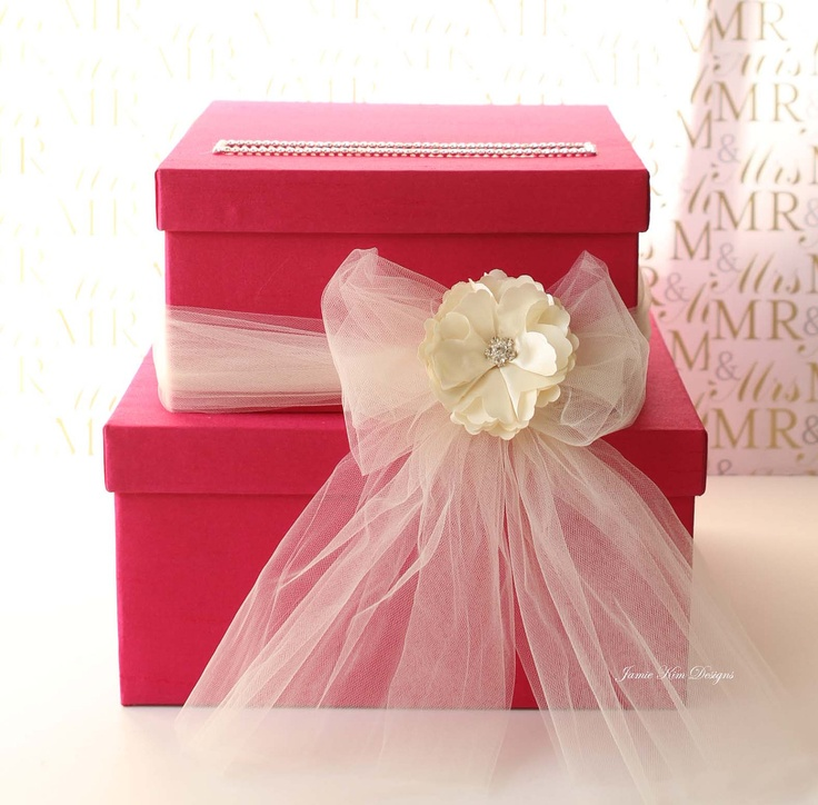 wedding gift card holders%0A Wedding Card box Gift Card Box Money holder with the Rhinestones around the  card slot