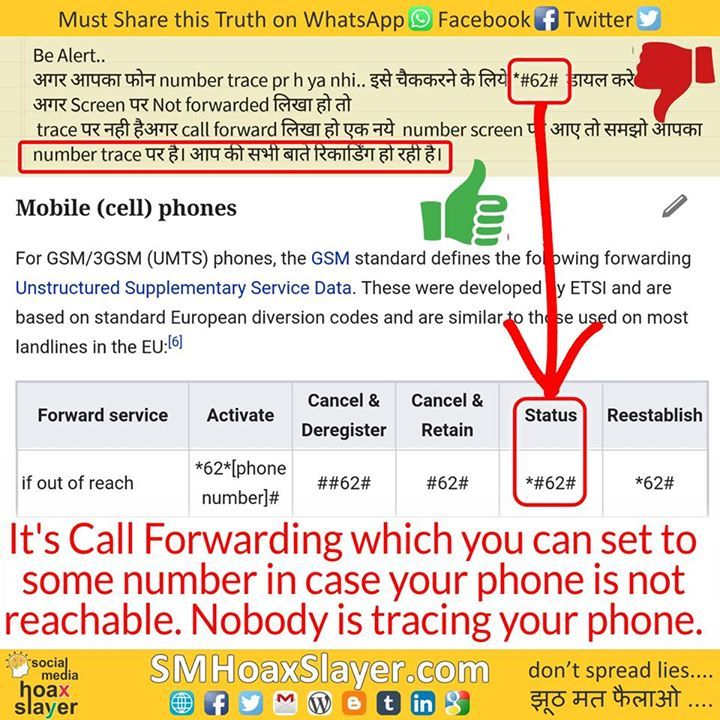 It's Call Forwarding which you can set to some number in case your phone is not reachable. Nobody is tracing your phone.