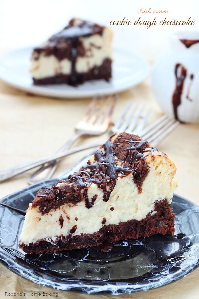 Fudgy chocolate layer topped with an silky smooth Irish cream cheesecake, this decadent cookie dough cheesecake is the best of both worlds! ...
