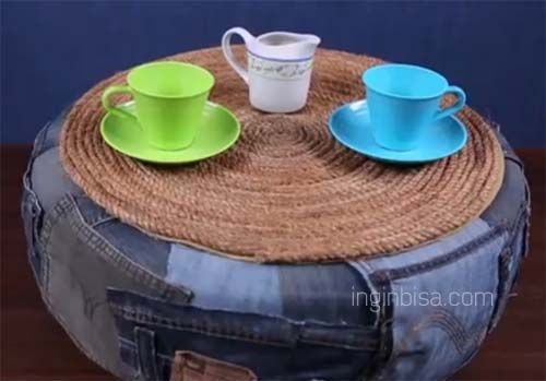 Cara Membuat Meja Cantik Dari Limbah Ban Bekas