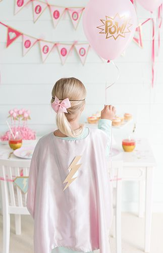 Adorable Pink Superhero Party - Inspired By This