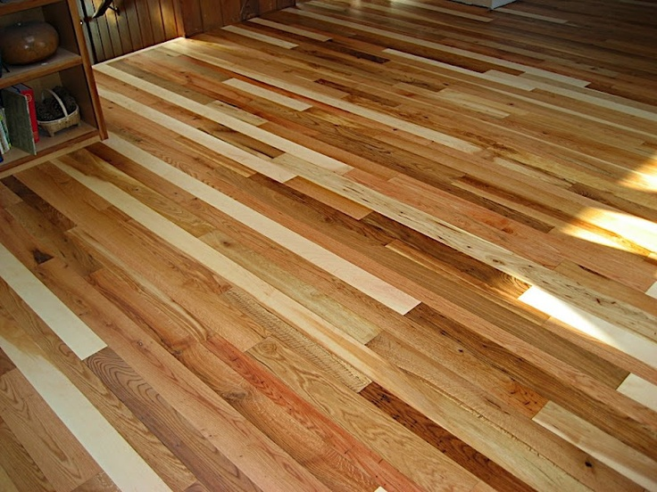 Redbeardlumber.com 'forest in a floor' mixed local hardwoods.