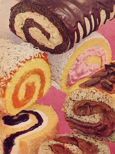 Cake rolls from the April 1958 issue of Household magazine