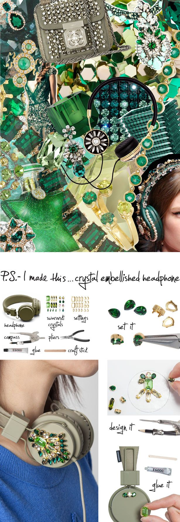 P.S.- I made this...Crystal Embellished Headphones #PSIMADETHIS #DIY