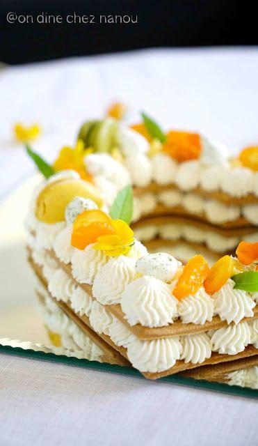 Number Cake Fetes Des Meres Agrumes Mascarpone Fleur D