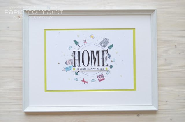 Papierforma(r)t - Homedeko - Home is our happy place - Stadt, Land, Gruß