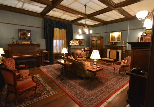 """""""The house, in some ways, is a ghost house, because very little of it belongs to Norman and his mother. They had to make a fairly hasty retreat from their previous home, so the ghosts of the previous tenants are in almost everything.""""  ~ 'Bates Motel' production designer Mark Freeborn  #batesmotel #psycho #hitchcock"""