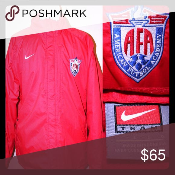 NIKE Red AFA Thick Winter Coat AFA American Futbol Association Thick Winter TEAM Nike Sport Coat Nike Jackets & Coats Puffers