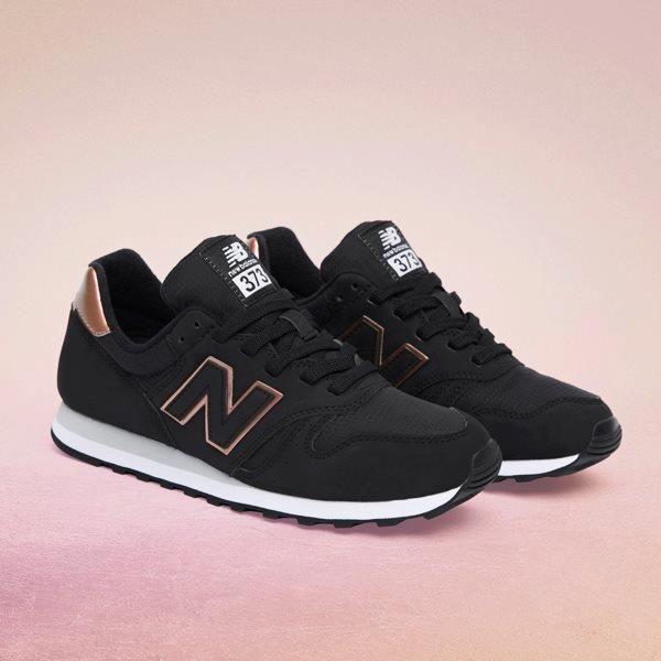 new balance 373 femme noir or rose