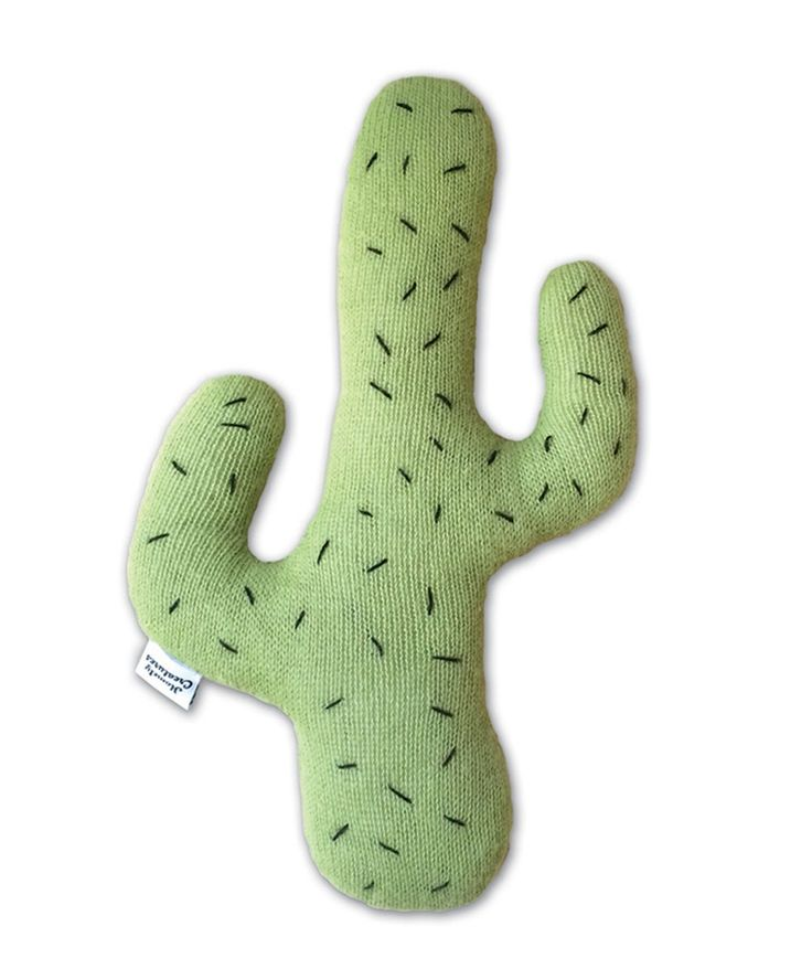 Create a prickly paradise with this radical cactus feature cushion is knitted from 100% Alpaca yarn by artisans in Bolivia. | huntingforgeorge.com