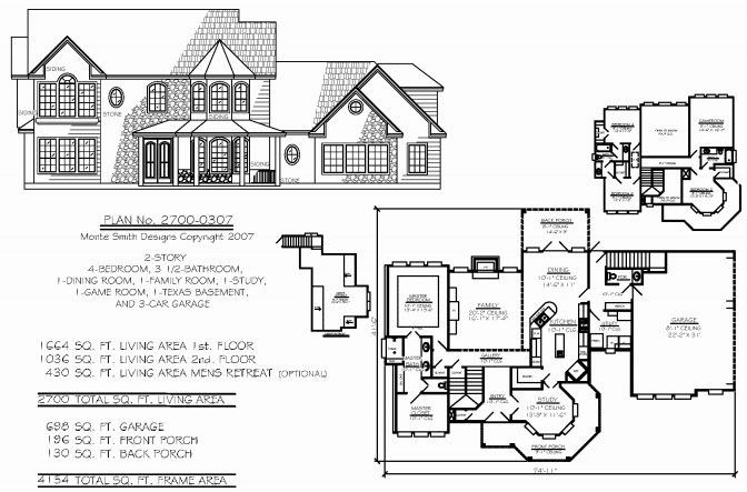 10 Inspirational House Plans With Unfinished Basement Gambar
