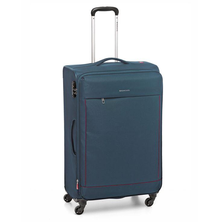 Großer #Koffer Roncato Connection bei Koffermarkt: ✓leichtes Weichgepäck ✓4 Rollen ✓erweiterbares Volumen ✓blau  ⇒Jetzt kaufen