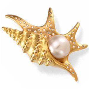 Paspaley South Sea Cultured Pearl Pelican''s Foot Brooch at www.jewelleryribbon.com