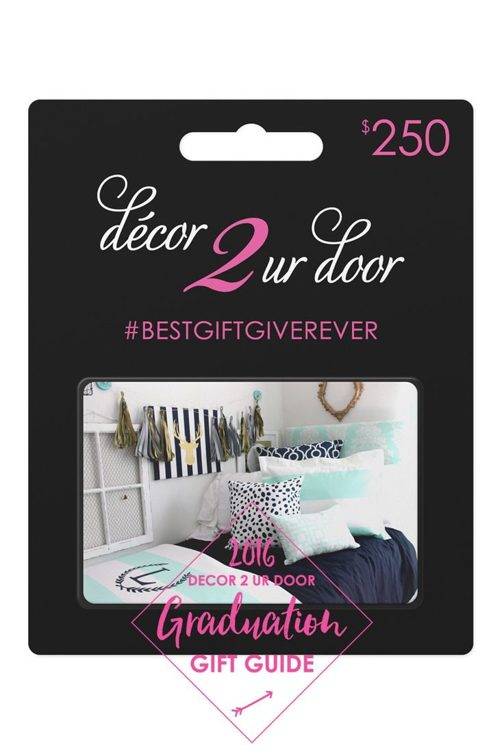 The PERFECT Gift!! Decor 2 Ur Door Gift Card. Decorate A Dorm Room Part 64