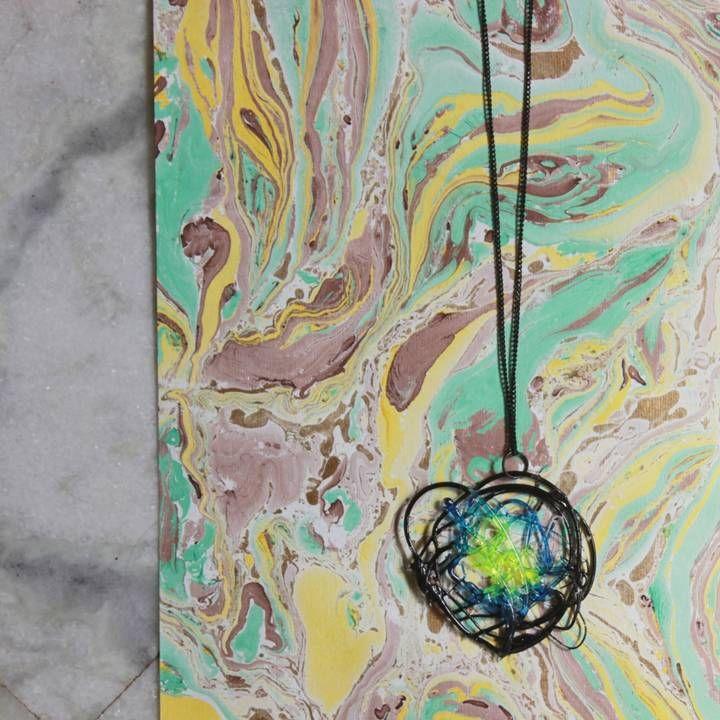 Metamorphosis Dynamic Green Pendant META003 Para mais informações ou encomendas/ For inquiries, please send an email on: dianascoelho@gmail.com