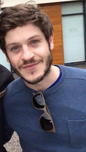 Iwan Rheon (Ramsay Bolton on Game of Thrones).  I'm very conflicted: sometimes he's creepy, sometimes adorable, never boring.  Oh, and dude can sing!