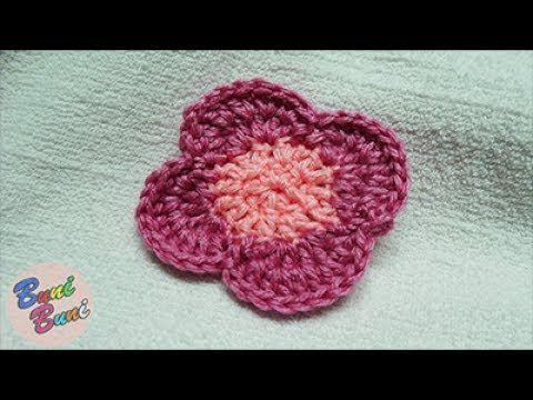CROSETAT - Floare simpla cu 4 petale (Crochet flower)