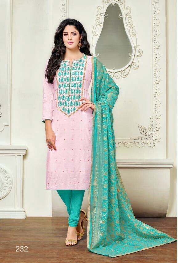 Chanderi  cotton churidar material To buy pls contact 9447721022
