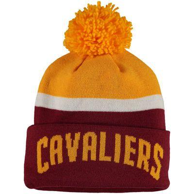 Cleveland Cavaliers adidas Team Nation Wordmark Cuffed Knit Hat with Pom - Wine