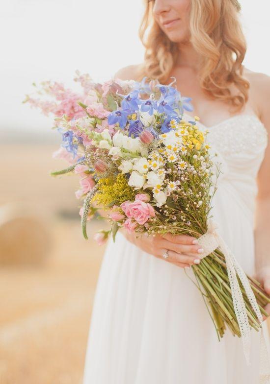 Wildflowers - great for a summer/beach wedding.