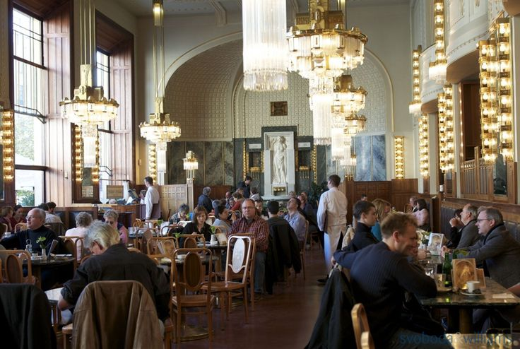 A visit to the beautiful Municipal House is a must in Prague! Enjoy the Art Nouveau splendour at the cafe.