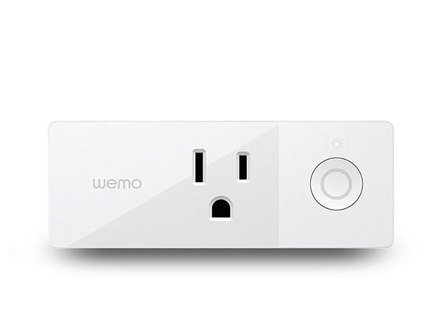 belkin Wemo Mini Smart Plug -- The Wemo Mini Smart Plug lets you control your electronic devices right from your phone or tablet. It uses your existing home wi-fi network to provide wireless control of lamps, heaters, fans, and more, with no subscription or hub required. Just plug it into an electrical outlet then plug a device into the Smart Plug, and control your device using the free Wemo app. $35
