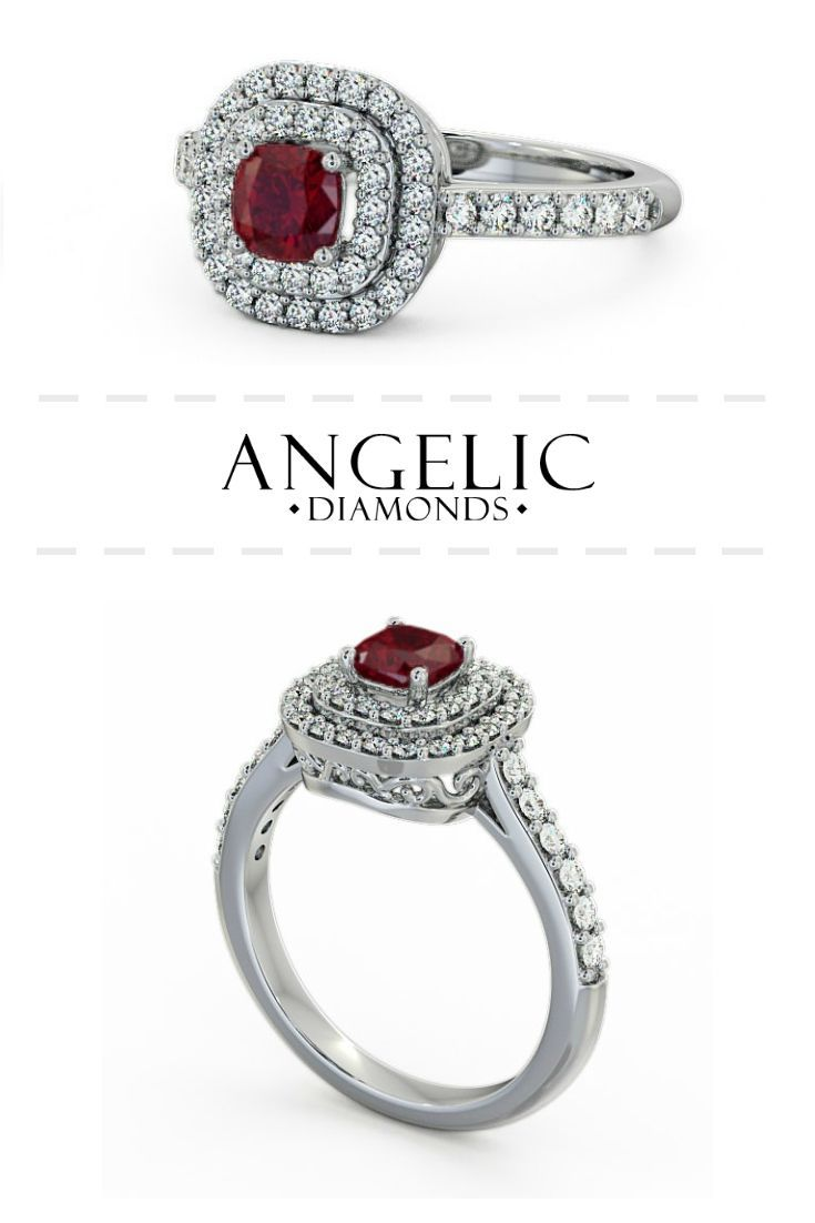 This beautiful vintage ruby engagement ring is the perfect blend of traditional sophistication and modern style. Find your perfect diamond engagement ring with #AngelicDiamonds. #Wedding #Engaged #Engagement #EngagementRing #Ruby #Rubies #Diamond #Diamonds #WeddingJewellery #DiamondJewellery #RubyJewellery #WeddingJewelry #DiamondJewelry #RubyJewelry #RubyRing #DiamondRing #GoldRing #WhiteGold