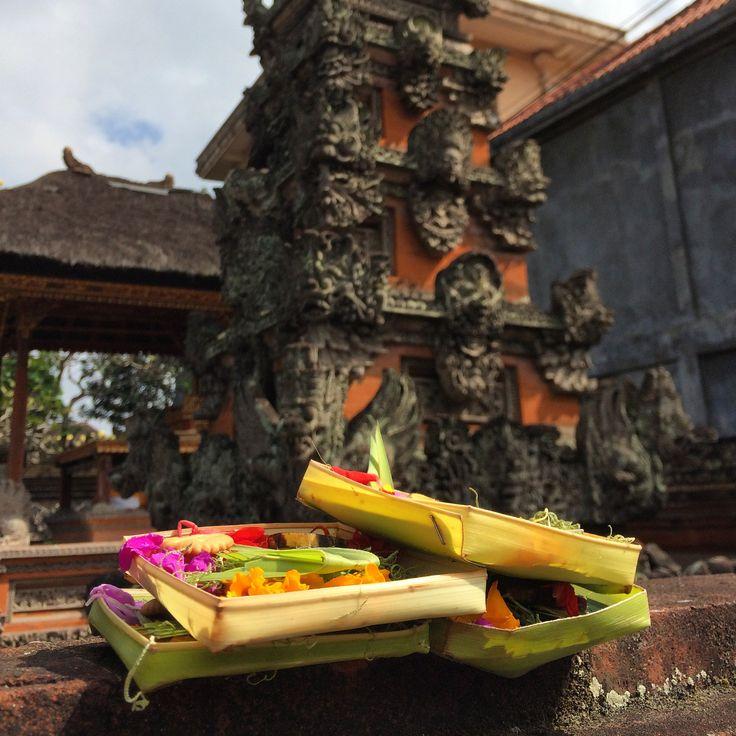 Offerings at Temple, Ubud, Bali