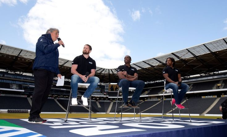 England 2015 Rugby World Cup Pack Kick-Off event  with Will Greenwood, Maggie Alphonsi, Serge Betsen , Shane Williams, Jason Leonard &  Lawrence Dallaglio -  hosted by John Inverdale - Stadium MK -  Milton Keynes - UK -16/05/2015 Picture: Andrew Fosker / Seconds Left Images