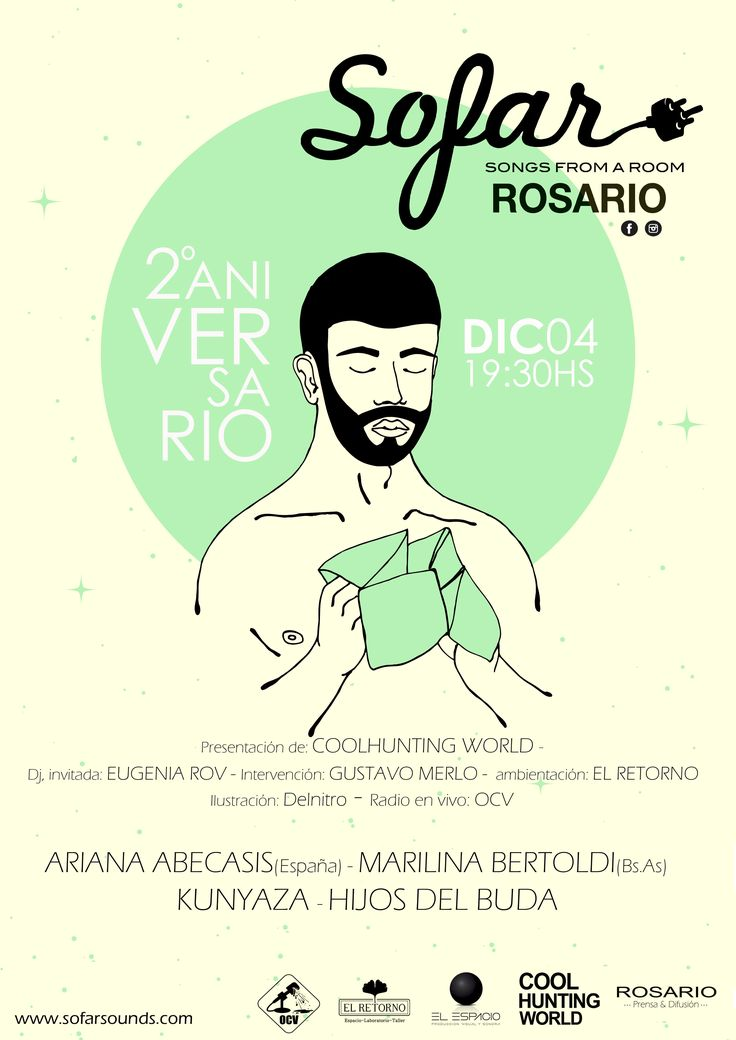 Gráfica flyer para Aniversario 2ª de #SofarSoundsRosario