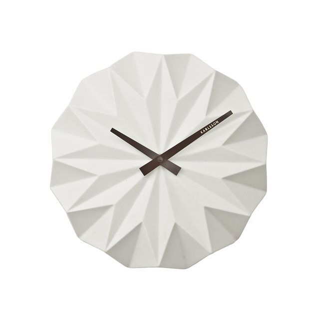 Horloge Karlsson Design Origami Ceramique