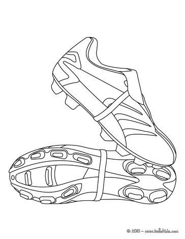 Soccer shoes coloring page
