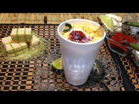 ESQUITES  granos de elote tierno sal caldo de pollo en polvo rama de epasote  chile jalapeño 1/2 barra de mantequilla
