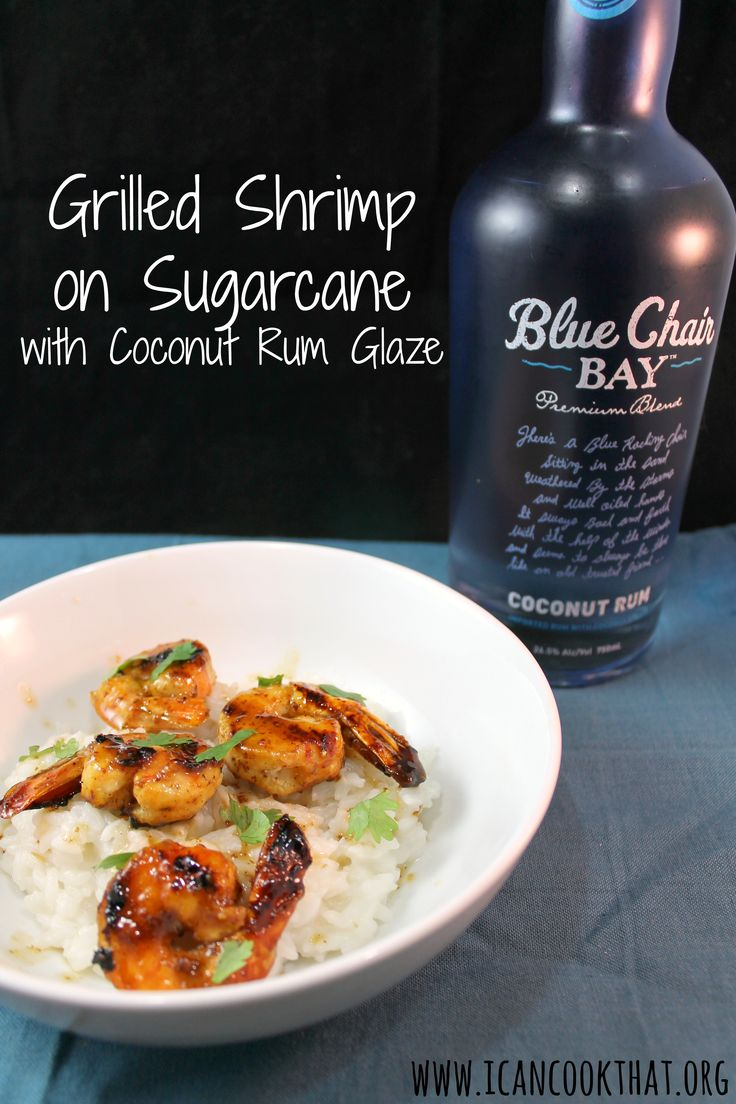 Grilled Shrimp on Sugarcane with Coconut Rum Glaze   Savory Rum-Soaked ...