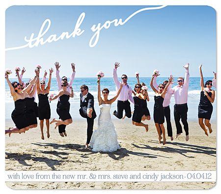 Wedding Thank You Magnet Circle Date