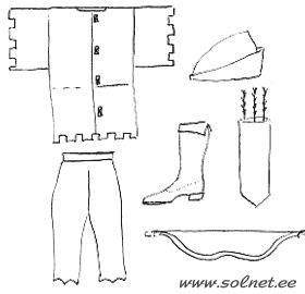 Выкройки новогоднего костюма робин гуд