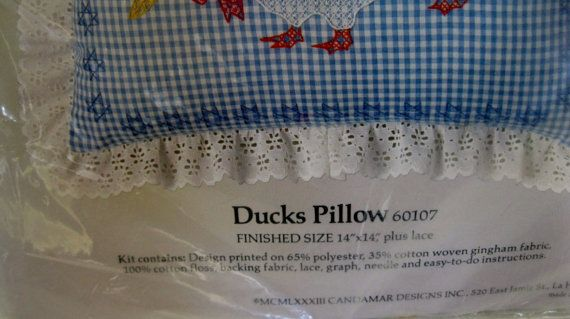En venta Vintage moña algo especial pollo patos cero almohada
