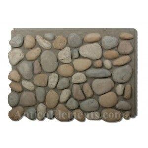 Brook River Rock Faux Stone Panel - Winter Blend