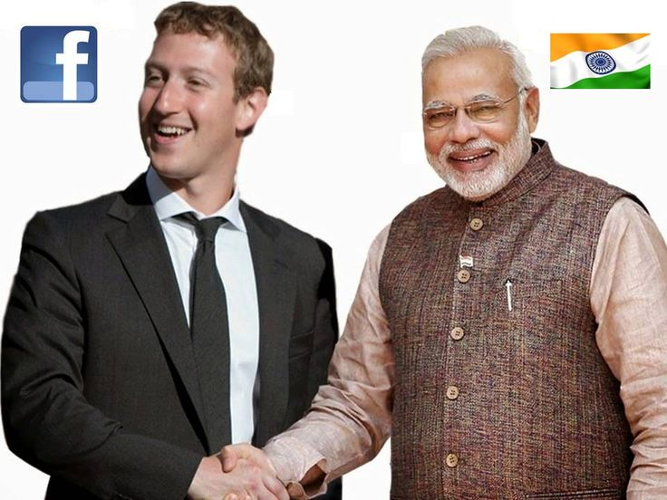 """""""#Facebook will help #CleanIndia"""" The founder and CEO Of #Facebook Mr. Mark Zuckerberg is on two day visit to Delhi, met Prime Minister Narendra Modi as Facebook will help the government develop a 'Clean India' mobile application."""