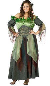Plus Size Deluxe Mother Nature Adult Costume - Halloween Costumes