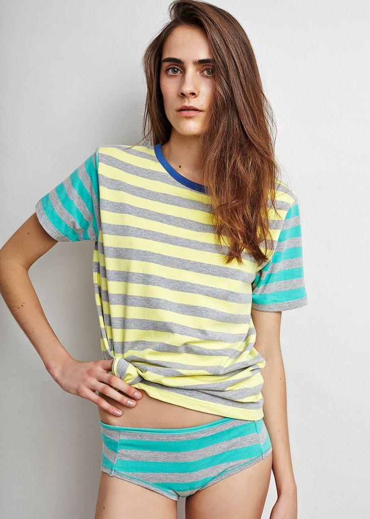 Shift to Nature - New Underwear Organic Cotton   Ocean Stripe