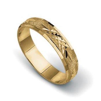 Złote obrączki ślubne AM16 - Komplet