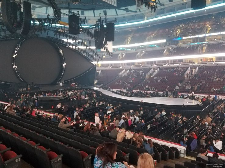 United Center Section 110 Concert Seating Rateyourseats Intended