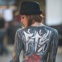 Full Throttle Saloon 2010 Bartender with body paint during the Sturgis Rally.