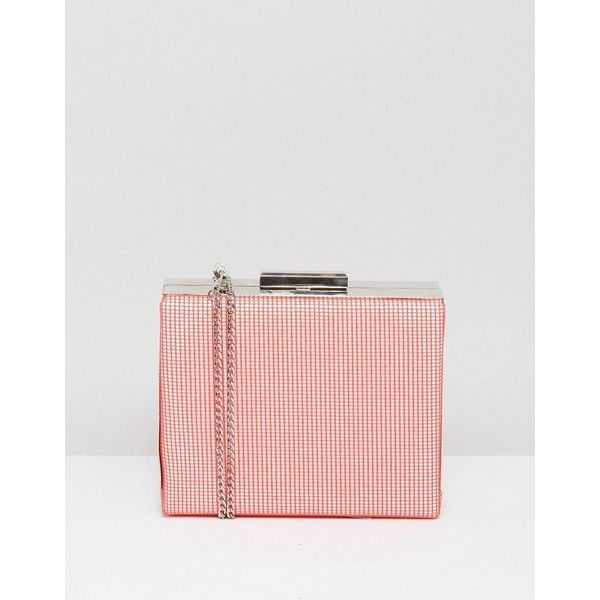 French Connection Ana Mesh Grid Clutch Bag (€37) ❤ liked on Polyvore featuring bags, handbags, clutches, red, red handbags, french connection purse, french connection handbags, cocktail purse and faux-leather handbags