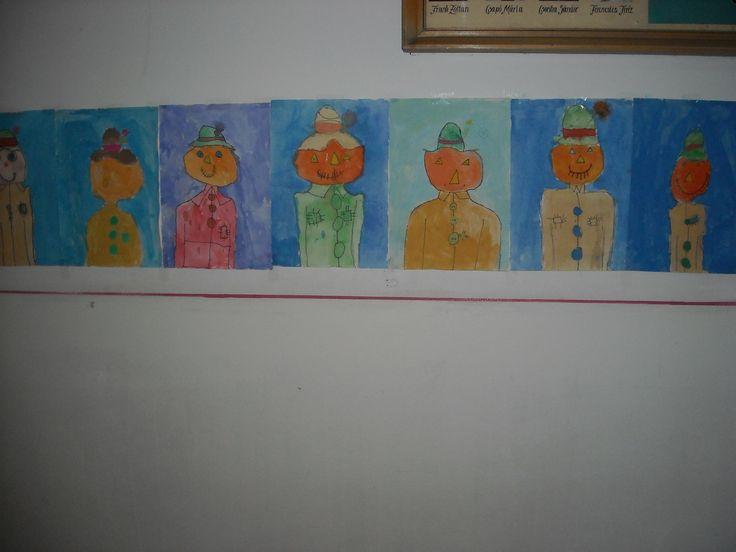 Madárijesztők. Elsőseim rajzórai alkotásai 2015