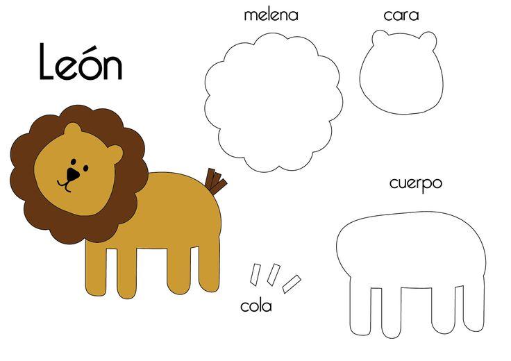 felt lion template - Google Search