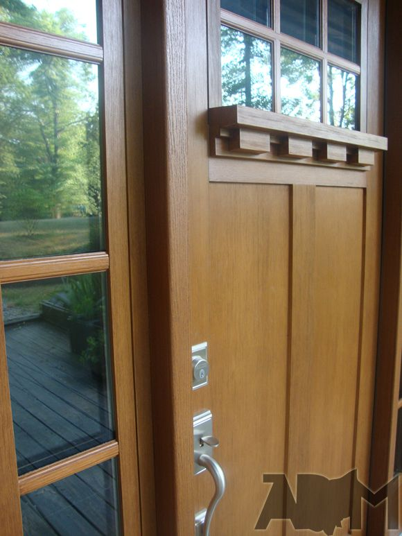 Clopay Craftsman Collection Entry Door Details Dentil