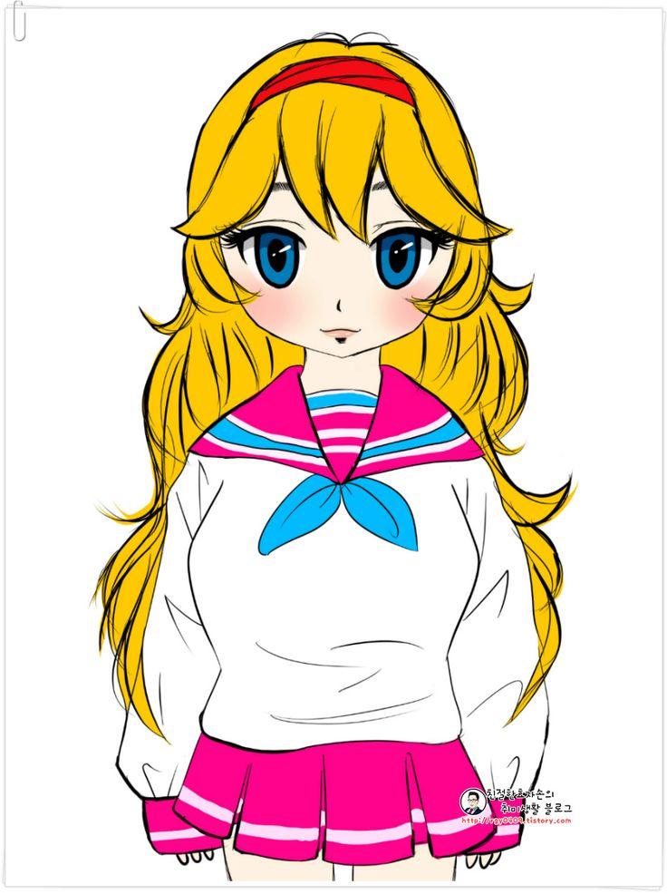 ▶친절한효자손 취미생활◀ :: [태블릿PC로 그림그리기] 아이러브파스타 캐릭터 그려보기