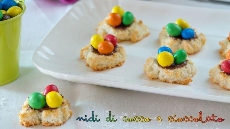 Biscotti per Pasqua: nidi di cocco e cioccolato